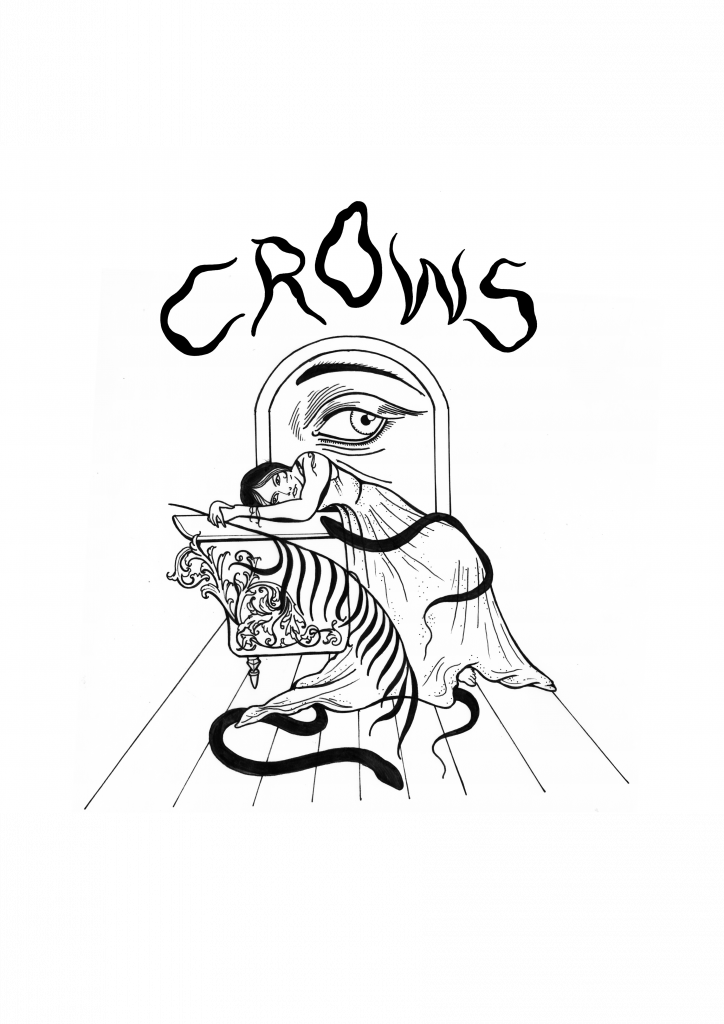 crows silver tongues tee