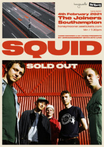 Squid at The Joiners, Southampton *NEW DATE TBC*