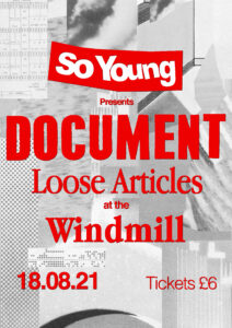 Document and Loose Articles at The Windmill, Brixton
